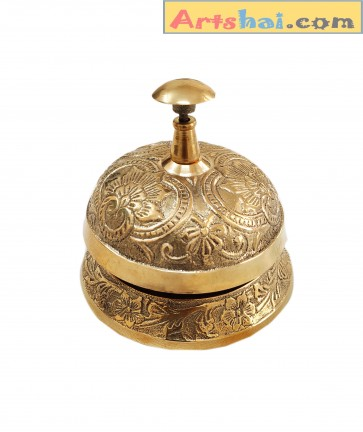 Artshai Designer Solid Brass Office Desk Call Bell