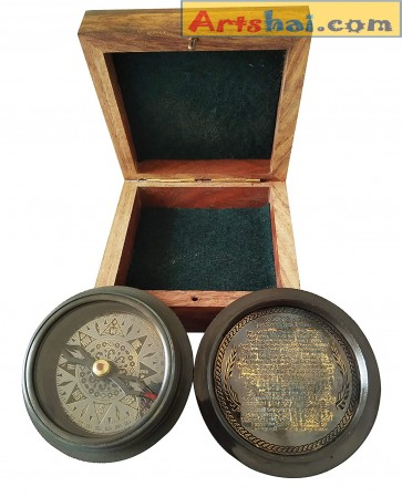 Artshai Brass magentic Pirates Compass with Box.Beautiful Looks Black Compass.Unique Gifts for loveone