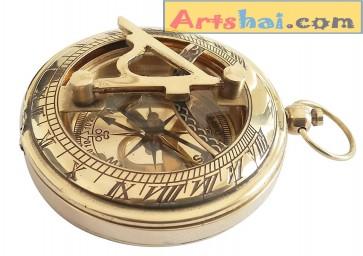rtshai Golden 2 inch Sundial Compass