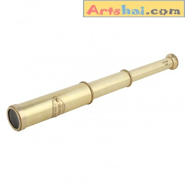 Artshai 12 inch full brass telescope. Nautical décor and collectibles, Artshai502