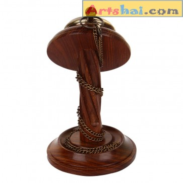 Artshai Antique look Pocket watch cum table clock, Victoria London design. Sheesham wood stand