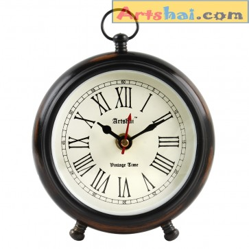 Artshai Antique look Round table Clock