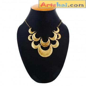 Artshai Golden Alloy necklace