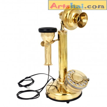Artshai Brass Golden Antique Telephone