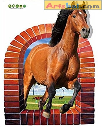 Artshai pvc 3d style Horse Sticker, decorative wall sticker for living room, bedroom and kids room