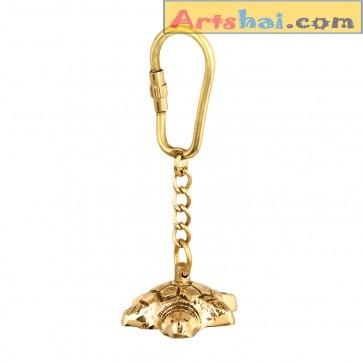 Artshai Solid Brass Tortoise Keychain, Vaastu Artifact