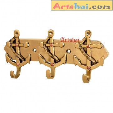 Artshai brass Hand Made Hanger Wall Hanging Décor Anchor  Design .