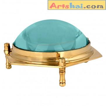 Artshai Hexa design Brass Magnifier cum paperweight, unique gifts