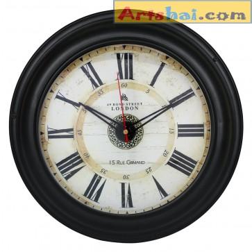 Artshai Antique style metal wall clock, 11 inch size