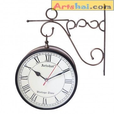 Artshai Antique style 8 inch Station Clock