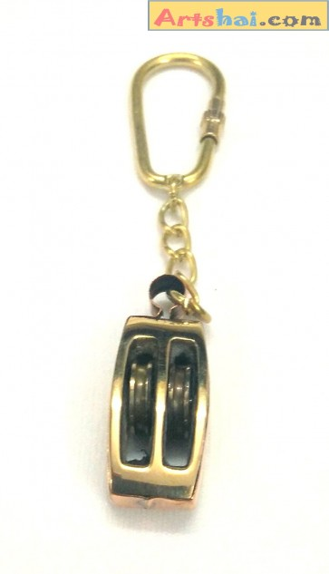 Artshai Brass Pully Design Keychain