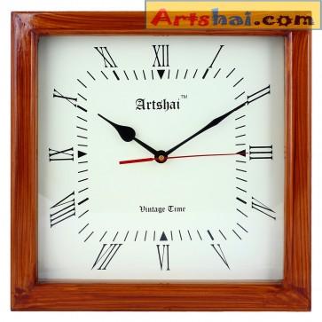 Artshai Square Shape 12 Inch Designer Wall Clock