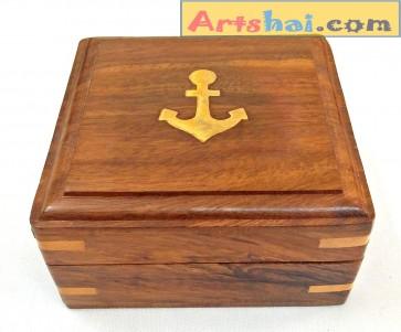 Artshai sheesham Wood Jewellery Box, Size 10x9.8x4.8 cm