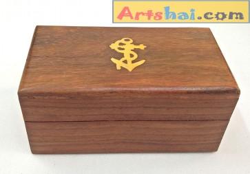 Artshai Small sheesham Ring, Jewellery Storage Box, Size 10x5.8x4.5cm