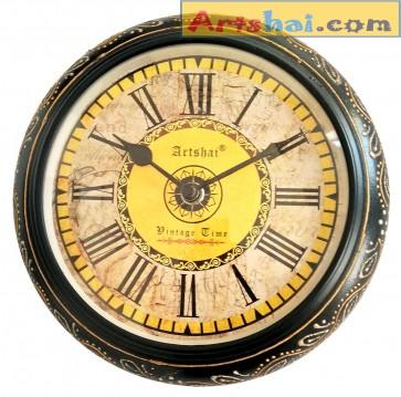 Artshai small 8 inch size designer hand painted wall clock