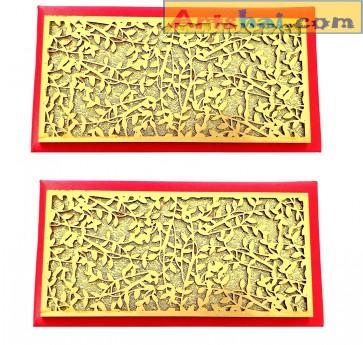 Artshai Designer red shagun Envelope for Marriage (Pack of 2)