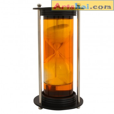 Artshai Aluminum and colored  hourglass for nautical decor and unique gifting.Showpiece.