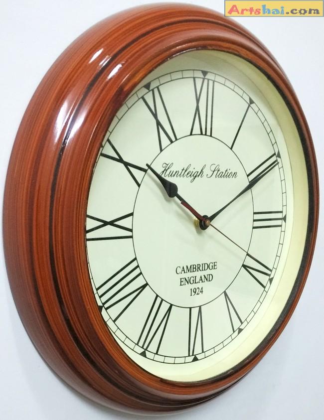 Artshai 16 inch antique look wall clock big size designer wall clock