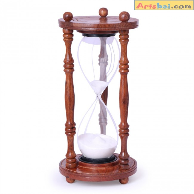 artshai 48 minute sheesham wood hourglass sand timer