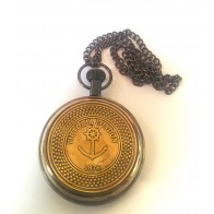 Artshai Antique look Victoria London Pocket Watch with chain.