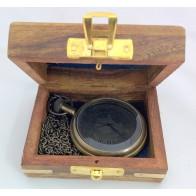 Artshai Queen Pocket Watch with Sheesham Wodden box , Antique Style