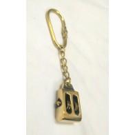 Artshai Solid Brass Pulley Design Keychain | Nautical