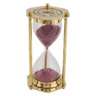 Artshai full Brass Golden 5 minute  sand timer, Hexa shape
