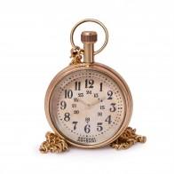 Artshai Pocket watch with wooden box, Antique style