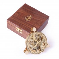 Artshai 4 inch sundial with sheesham wood box