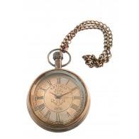 Artshai Antique Look Brass Brown Anchor Design Pocket Watch with Chain