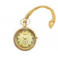 Artshai Antique Look Golden Brass Designer Pocket Watch with Brass Body