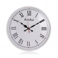Artshai 12 inch Antique Look White Colour Metal Wall Clock