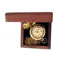 Artshai Brass Golden dial Pocket Watch with Wooden Box