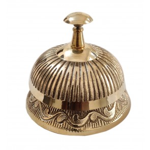 Artshai Office Service Desk Bell Hotel Counter Bell Ornate Solid Brass Hotel Counter Bell Officer Call Bell