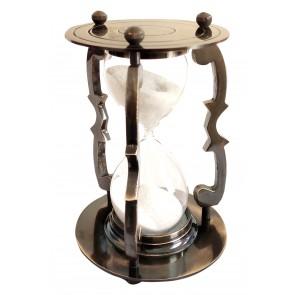 Artshai Antique Brass 5 Minute Sand Timer .Antique Look Brass Hourglass