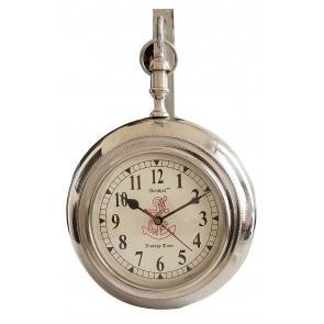 Artshai 6 inch Designer Station Clock, Silver Color, Wall Clock