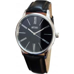 Artshai Black Wrist Watch with Black dial A Designer Analog Wrist Watch for Men