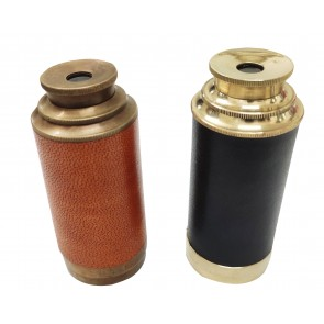 Artshai Brass Pocket Telescope with Lens Cover. Vintage Style Pack of 2 Telescope.6 inch Size