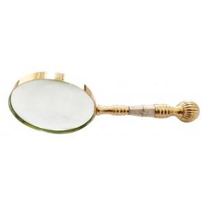 Artshai 4 inch Brass Designer Magnifying Glass.Unique Gifting idea.