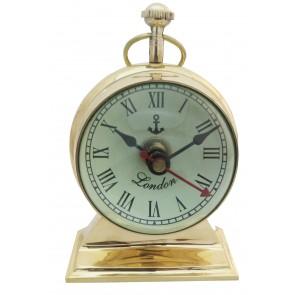 Artshai Antique Style Brass 3 inch Table Clock, Trophy Design