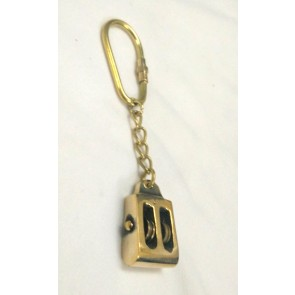 Artshai Solid Brass Pulley Design Keychain | Nautical
