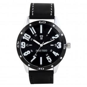 Swiss Trend Originial Elegant men wrist watch with leather strap. Exvellent gift.Artshai1605