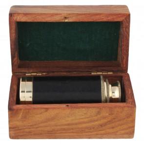 Artshai Beautiful brass telescope with sheesham wood box