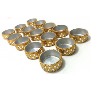 Artshai set of 15 decorative handcrafted golden diya for diwali