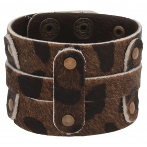 Artshai dark brown exclusive leather bracelet