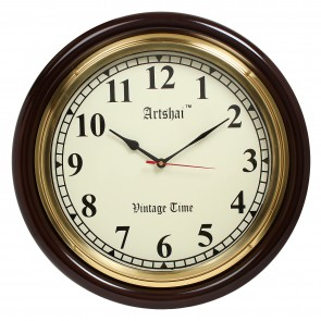 Artshai 16 inch Big Numbers Living Room and Office Antique Look Wall Clock