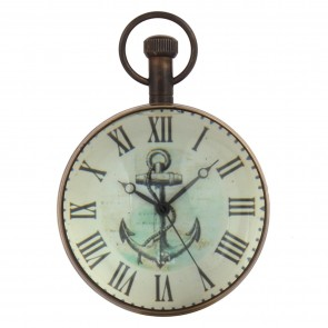 Artshai Antique Anchor Watch Style 2 inch Table Clock Cum Paper Weight.