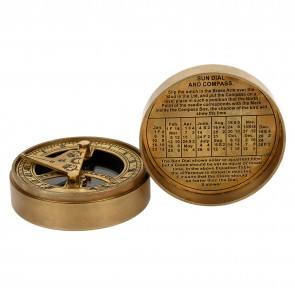 Artshai The Mary Rose Sundial Compass made from pure brass,magnetic compass, Gifting option