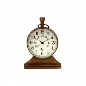 Artshai 2 inch size antique look Table clock, Made from brass, desk clock
