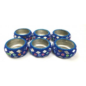 Artshai set of 6 handicraft diwali candle tealight holder. Beautiful decorative metal diwali and christmas diya